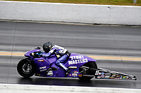 27th September 2020, Gainsville, Florida, USA;  Pro Stock Motorcycle driver Scott Pollacheck (11) during the 51st annual Amalie Motor Oil NHRA Gatornationals