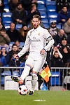 Real Madrid's Sergio Ramos during Copa del Rey match between Real Madrid and Celta de Vigo at Santiago Bernabeu Stadium in Madrid, Spain. January 18, 2017. (ALTERPHOTOS/BorjaB.Hojas)