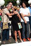 Candido Mendez (Sec. General UGT), Rosa Diez (UPyD), Pedro Zerolo (Concejal PSOE Ayto. Madrid). Gay pride demonstration 2012