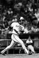 Eddie Murray of the Baltimore Orioles during a 1988 season game at Anaheim Stadium,in Anaheim,California.(Larry Goren/Four Seam Images)