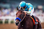 September 27 2014: American Pharaoh with Victor Espinoza up wins the Frontrunner Stakes at Santa Anita Park in Arcadia CA. Alex Evers/ESW/CSM