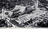 Historical photograph of Crystal Palace, London, 1851 as enlarged and re-erected at Sydenham, 1852-54. After the Exhibition of 1851, a decision was made to move it from original location. Designed by Joseph Paxton.