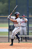GCL Braves second baseman Ray-Patrick Didder (8) at bat during a game against the GCL Yankees 2 on June 23, 2014 at the Yankees Minor League Complex in Tampa, Florida.  GCL Yankees 2 defeated the GCL Braves 12-4.  (Mike Janes/Four Seam Images)