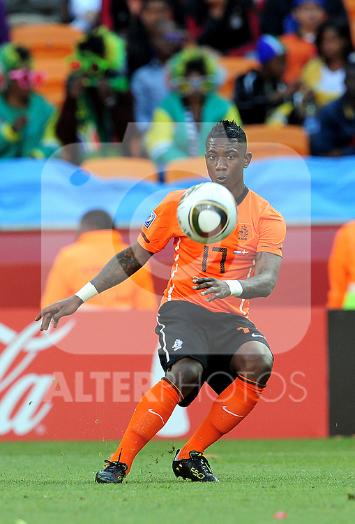 17 Eljero ELIA during the 2010 World Cup Soccer match between Denmark and Nederland played at Soccer City Stadium in Johannesburg South Africa on 14 June 2010.