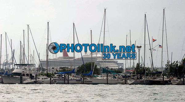 Miami Beach, FL 10-25-2003<br /> Sailboats at the Miami Yacht Club.<br /> Photo by Adam Scull-PHOTOlink