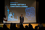 Daniel Kettor speaks to the crowd at Powershift UK. Over 250 young people from all over the UK and the World attended PowerShift in London. The UKYCC PowerShift Conference, held on Oct. 9-12, brought together over 250 young people from across the United Kingdom and the world to discuss climate change. The conference taught them how to  organize, build a social movement and take creative and intelligent action to tackle the climate crisis. Institute of Education, London, United Kingdom (2009 ©Robert vanWaarden)
