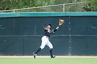 AZL White Sox center fielder Louis Silverio (22) makes a catch against the AZL Padres on July 31, 2017 at Camelback Ranch in Glendale, Arizona. AZL White Sox defeated the AZL Padres 2-1. (Zachary Lucy/Four Seam Images)