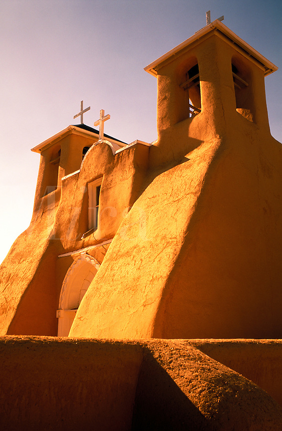 USA, New Mexico, Ranchos de Taos. Church of Saint Francis of Assisi built in 1730