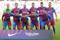 26th September 2021; Nou Camp, Barcelona, Spain: La Liga football, FC Barcelona versus Levante:  FC Barcelona team line up