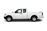 Car Driver side profile view of a 2018 Nissan Frontier S-King-Cab 4 Door Pickup Side View