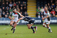 20130317 Copyright onEdition 2013©.Free for editorial use image, please credit: onEdition..Will Collier of Harlequins in action during the LV= Cup Final between Harlequins and Sale Sharks at Sixways Stadium on Sunday 17th March 2013 (Photo by Rob Munro)..For press contacts contact: Sam Feasey at brandRapport on M: +44 (0)7717 757114 E: SFeasey@brand-rapport.com..If you require a higher resolution image or you have any other onEdition photographic enquiries, please contact onEdition on 0845 900 2 900 or email info@onEdition.com.This image is copyright onEdition 2013©..This image has been supplied by onEdition and must be credited onEdition. The author is asserting his full Moral rights in relation to the publication of this image. Rights for onward transmission of any image or file is not granted or implied. Changing or deleting Copyright information is illegal as specified in the Copyright, Design and Patents Act 1988. If you are in any way unsure of your right to publish this image please contact onEdition on 0845 900 2 900 or email info@onEdition.com