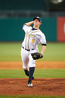 Montgomery Biscuits pitcher Kyle Winkler (8) delivers a pitch during a game against the Tennessee Smokies on May 25, 2015 at Riverwalk Stadium in Montgomery, Alabama.  Tennessee defeated Montgomery 6-3 as the game was called after eight innings due to rain.  (Mike Janes/Four Seam Images)
