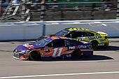 #11: Denny Hamlin, Joe Gibbs Racing, Toyota Camry FedEx Office and #99: Kyle Weatherman, StarCom Racing, Chevrolet Camaro StarCom Fiber