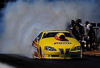 Mar. 13, 2011; Gainesville, FL, USA; NHRA pro stock driver Rodger Brogdon during the Gatornationals at Gainesville Raceway. Mandatory Credit: Mark J. Rebilas-