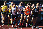 12 JUNE 2015: Runners compete in the Men's 1500 meters during the Division I Men's and Women's Outdoor Track & Field Championship held at Hayward Field in Eugene, OR.  Steve Dykes/ NCAA Photos
