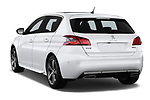 Car pictures of rear three quarter view of a 2018 Peugeot 308 GT Line 5 Door Hatchback angular rear