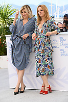 CANNES, FRANCE. July 10, 2021: Valeria Bruni Tedeschi & Vanessa Paradis at the photocall for Love Songs for Tough Guys at the 74th Festival de Cannes.<br /> Picture: Paul Smith / Featureflash