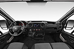 Stock photo of straight dashboard view of a 2019 Renault Master L3h2 4 Door Cargo Van