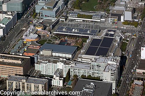 aerial photograph Moscone Center SOMA San Francisco, California