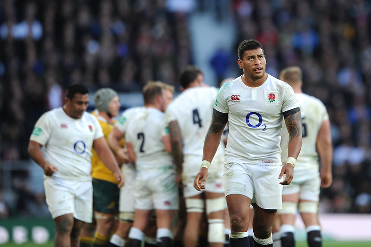 Nathan Hughes of England during the Old Mutual Wealth Series match between England and Australia at Twickenham Stadium on Saturday 3rd December 2016 (Photo by Rob Munro)
