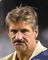 22 September 2007: Pitt head coach Dave Wannstedt..The Connecticut Huskies defeated the Pitt Panthers 34-14 on September 22, 2007 at Heinz Field in Pittsburgh, Pennsylvania.