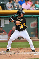 Vance Albitz (19) of the Salt Lake Bees at bat against the Reno Aces in Pacific Coast League action at Smith's Ballpark on July 23, 2014 in Salt Lake City, Utah.  (Stephen Smith/Four Seam Images)