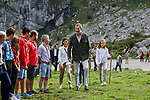 Queen Letizia of Spain, King Felipe VI of Spain and Princess Leonor of Spain visit the Enol lake in Asturias, Spain. September 08, 2018. (ALTERPHOTOS/A. Perez Meca)