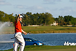 PALM BEACH GARDENS, FL. - Y.E. Yang pumps his fist after his 49 foot putt stops just 1 foot short during final round play at the 2009 Honda Classic - PGA National Resort and Spa in Palm Beach Gardens, FL. on March 8, 2009.