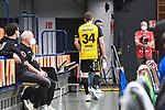 Coburgs Varvne, Tobias auf dem Weg in die Kabine beim Spiel in der Handball Bundesliga, Die Eulen Ludwigshafen - HSC 2000 Coburg.<br /> <br /> Foto © PIX-Sportfotos *** Foto ist honorarpflichtig! *** Auf Anfrage in hoeherer Qualitaet/Aufloesung. Belegexemplar erbeten. Veroeffentlichung ausschliesslich fuer journalistisch-publizistische Zwecke. For editorial use only.