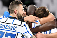 Romelu Lukaku of FC Internazionale celebrates with teammates after scoring the goal of 1-2 during the Italy Cup round of 16 football match between ACF Fiorentina and FC Internazionale at Artemio Franchi stadium in Firenze (Italy), January 13th, 2021. Photo Andrea Staccioli / Insidefoto