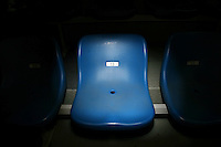 CHINA. Beijing. A chair bearing the 'unlucky number' 13 in a stadium during the Beijing 2008 Summer Olympics. 2008