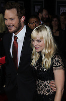 """HOLLYWOOD, CA - NOVEMBER 03: Actor Chris Pratt and Actress Anna Faris arrive at the Los Angeles Premiere Of DreamWorks Pictures' """"Delivery Man"""" held at the El Capitan Theatre on November 3, 2013 in Hollywood, California. (Photo by Xavier Collin/Celebrity Monitor)"""