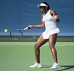 Sloane Stephens (USA) loses to Ana Ivanovic (SRB) 2-6, 6-4, 6-1 at the Western and Southern Open in Mason, OH on August 20, 2015.