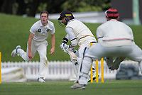 Devon Conway bats during day three of the Plunket Shield match between the Wellington Firebirds and Canterbury at Basin Reserve in Wellington, New Zealand on Wednesday, 21 October 2020. Photo: Dave Lintott / lintottphoto.co.nz