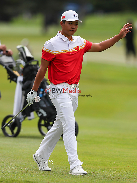Yuxin Lin of China during the Asia Pacific Amateur Golf Championship Round Four, Royal Wellington Golf Course, Wellington, New Zealand, 29 October2017.  Photo: Simon Watts/www.bwmedia.co.nz