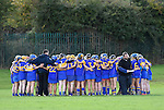 The  Newmarket team huddle before their senior county final in Clarecastle. Photograph by John Kelly.