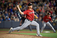 Erie SeaWolves pitcher Drew Carlton (23) during an Eastern League game against the Akron RubberDucks on August 30, 2019 at Canal Park in Akron, Ohio.  Erie defeated Akron 3-2.  (Mike Janes/Four Seam Images)