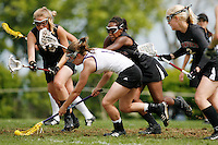 20 June 2006: Bri Ned during Stanford's 17-9 loss to Northwestern in the first round of the 2006 NCAA Lacrosse Championships in Evanston, IL. Stanford made it to the NCAA's for the first time in school history.