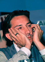 1986 File Photo, Montreal (Quebec) Canada<br /> <br /> French actor Jean-Luc Anglade at the1986  World Film Festival in Montreal for the movie 37,2 LE MATIN (BETTY BLUE) By Beinex.<br /> <br /> Photo by : Pierre Roussel / Images Distribution