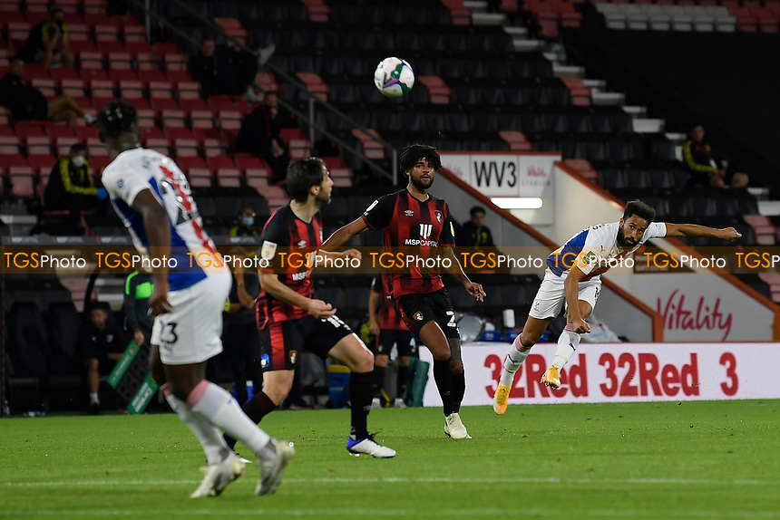 Andros Townsend of Crystal Palace right has a shot on goal during AFC Bournemouth vs Crystal Palace, Carabao Cup Football at the Vitality Stadium on 15th September 2020