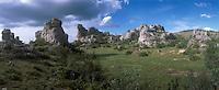 "Europe/France/Auvergne/12/Aveyron/Larzac: Rochers ""Chaos Ruiniformes du Rajal Del Corp"""