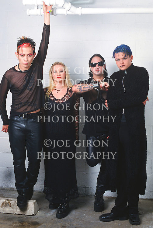 Various portrait sessions of the rock band, Coal Chamber
