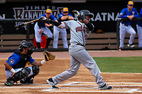Quad Cities River Bandits outfielder Ronnie Dawson (12) swings at a pitch during a Midwest League game against the Wisconsin Timber Rattlers on April 9, 2017 at Fox Cities Stadium in Appleton, Wisconsin.  Quad Cities defeated Wisconsin 17-11. (Brad Krause/Four Seam Images)