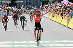 Marianne Vos (NED) CCC-Liv wins La Course 2019 By Le Tour running 121km from Pau to Pau, France. 19th July 2019.<br /> Picture: Colin Flockton | Cyclefile<br /> All photos usage must carry mandatory copyright credit (© Cyclefile | Colin Flockton)