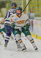 14 February 2015: University of Vermont Catamount Forward Mackenzie MacNeil, a Freshman from Richmond Hill, Ontario, in first period action against the University of New Hampshire Wildcats at Gutterson Fieldhouse in Burlington, Vermont. The Lady Catamounts rallied from a 3-1 deficit to earn a 3-3 tie in the final home game of their NCAA Hockey East season. Mandatory Credit: Ed Wolfstein Photo *** RAW (NEF) Image File Available ***