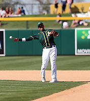 Ryan Goins - Oakland Athletics 2020 spring training (Bill Mitchell)