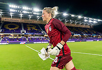 ORLANDO, FL - JANUARY 22: Jane Campbell #24 of the USWNT runs onto the field before a game between Colombia and USWNT at Exploria stadium on January 22, 2021 in Orlando, Florida.