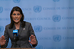 Security Council President Nikki R. Haley, Permanent Representative of the United States to the UN a