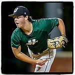 Jake Cubbler (48) of the University of South Carolina Upstate Spartans Green team pitches in relief in the Green and Black Fall World Series Game 4 on Wednesday, November 4, 2020, at Cleveland S. Harley Park in Spartanburg, South Carolina. Green won, 8-0. (Tom Priddy/Four Seam Images)