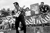 Memphis, Tennessee<br /> USA<br /> August 15, 2002<br /> <br /> Some 50, 000 fans from around the world gather outside of Graceland for a candle vigil to mark the 25th anniversary of Elvis Presley's death.